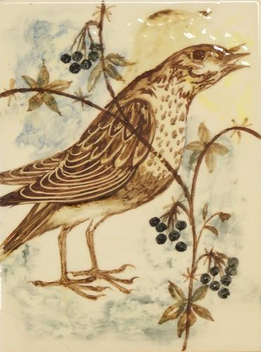 Vogeltje (links onder gebarsten)