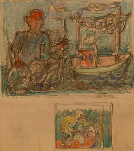 De visser (ontwerp voor schilderij)