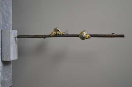 Slakken op bamboe I, unicum
