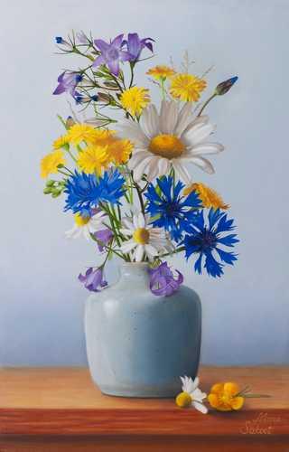 Stilleven met wilde bloemen