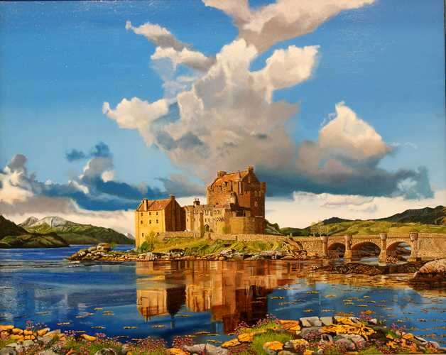 Eilean Donan Castle in spring time