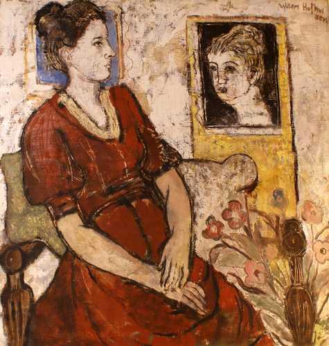 Vrouw in het rood (echtgenote van Hofhuizen)