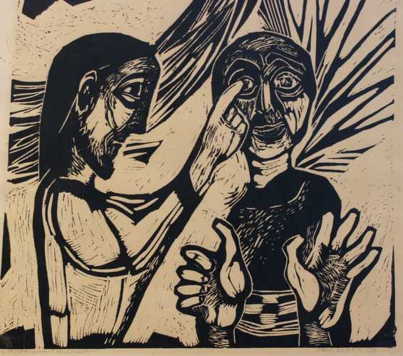 Christus geneest de blinde