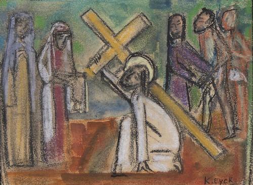 Veronica droogt het gelaat van Christus