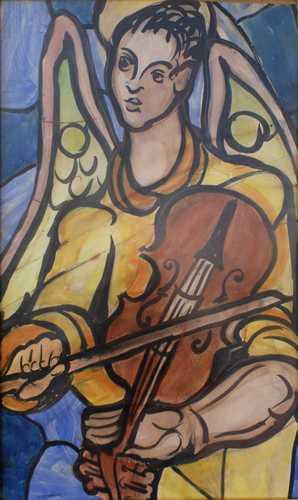 Vioolspelende engel